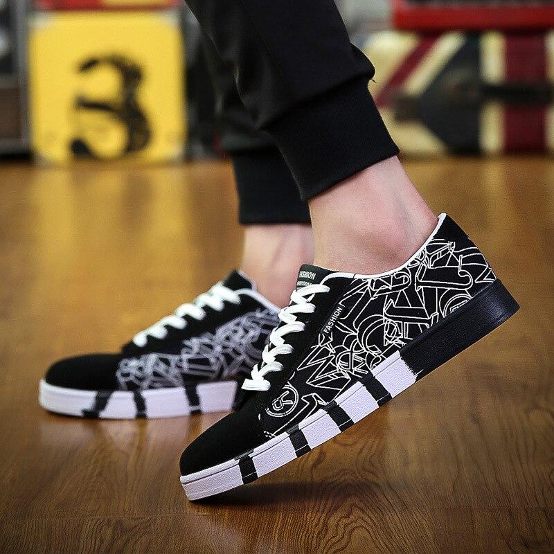 Мужская Мода парусиновая обувь Демисезонный холст Кружево на шнуровке Повседневная обувь для отдыха на открытом воздухе Дышащая обувь на п...