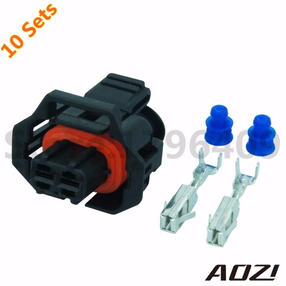 ten sets automotive wiring harness plastic connector for car part 3 5mm series 2 pins terminals 1 928 403 874 1928403874 [ 1000 x 1000 Pixel ]