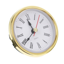 "Shellhard 2-1/""(65 мм) часы с кварцевым механизмом, римская цифра, белый циферблат, золотая отделка"