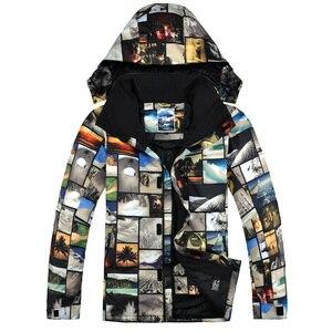 GSOU Зимняя Новая Дизайнерская куртка для сноуборда мужская куртка для походов и кемпинга зимняя водонепроницаемая ветрозащитная одежда для...
