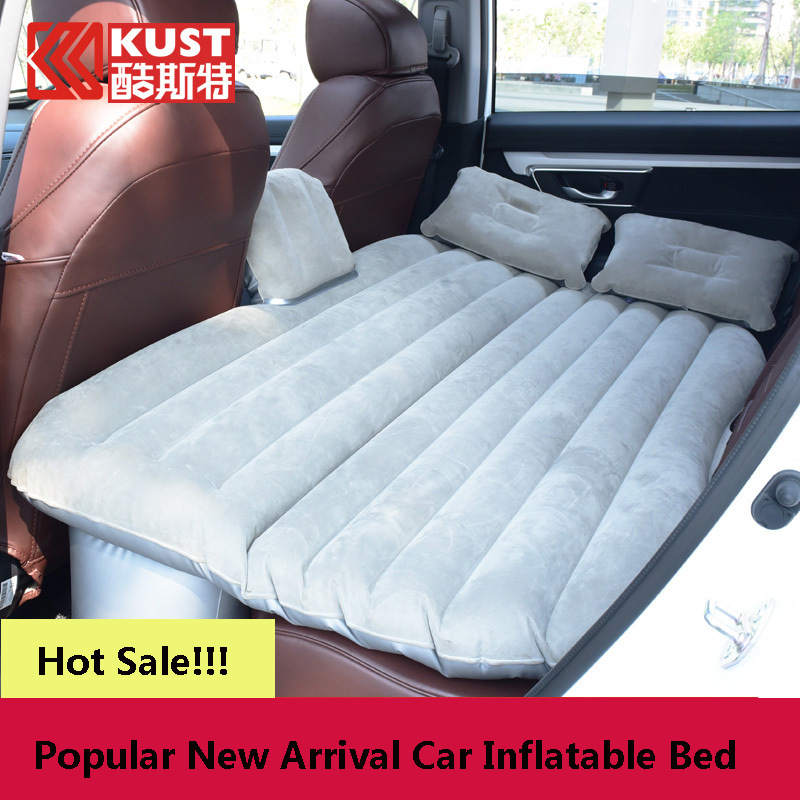 Kust Car Travel Bed Back Seat Cover Auto Air Mattress Travelling Bed Inflatable Mattress Air Bed Home Camping Inflatable Car Bed large size durable car back seat cover car air mattress travel bed moisture proof inflatable mattress air bed for car interior