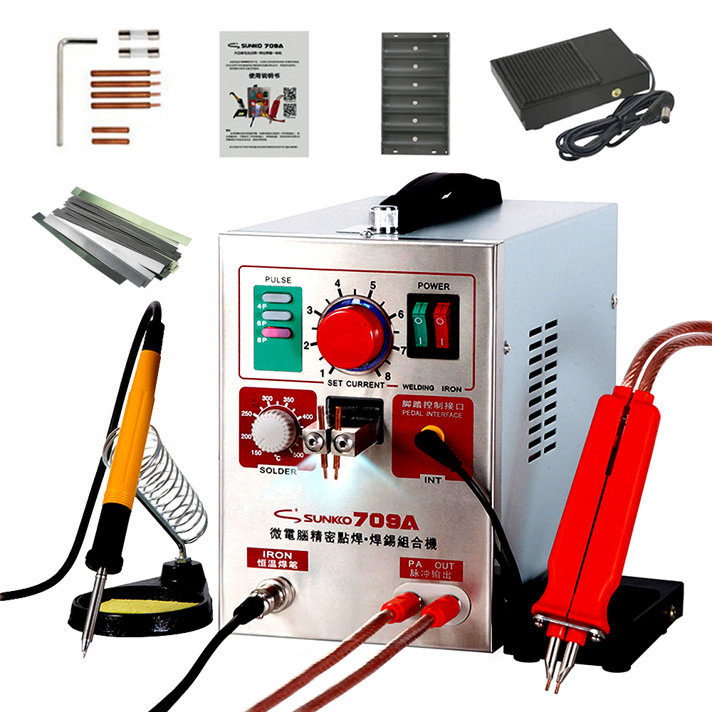 <font><b>SUNKKO</b></font> <font><b>709A</b></font> Spot Welder 1.9KW Pulse Spot Welding Machine For Lithium Battery Pack Welding Machine With Remote Soldering Pen image