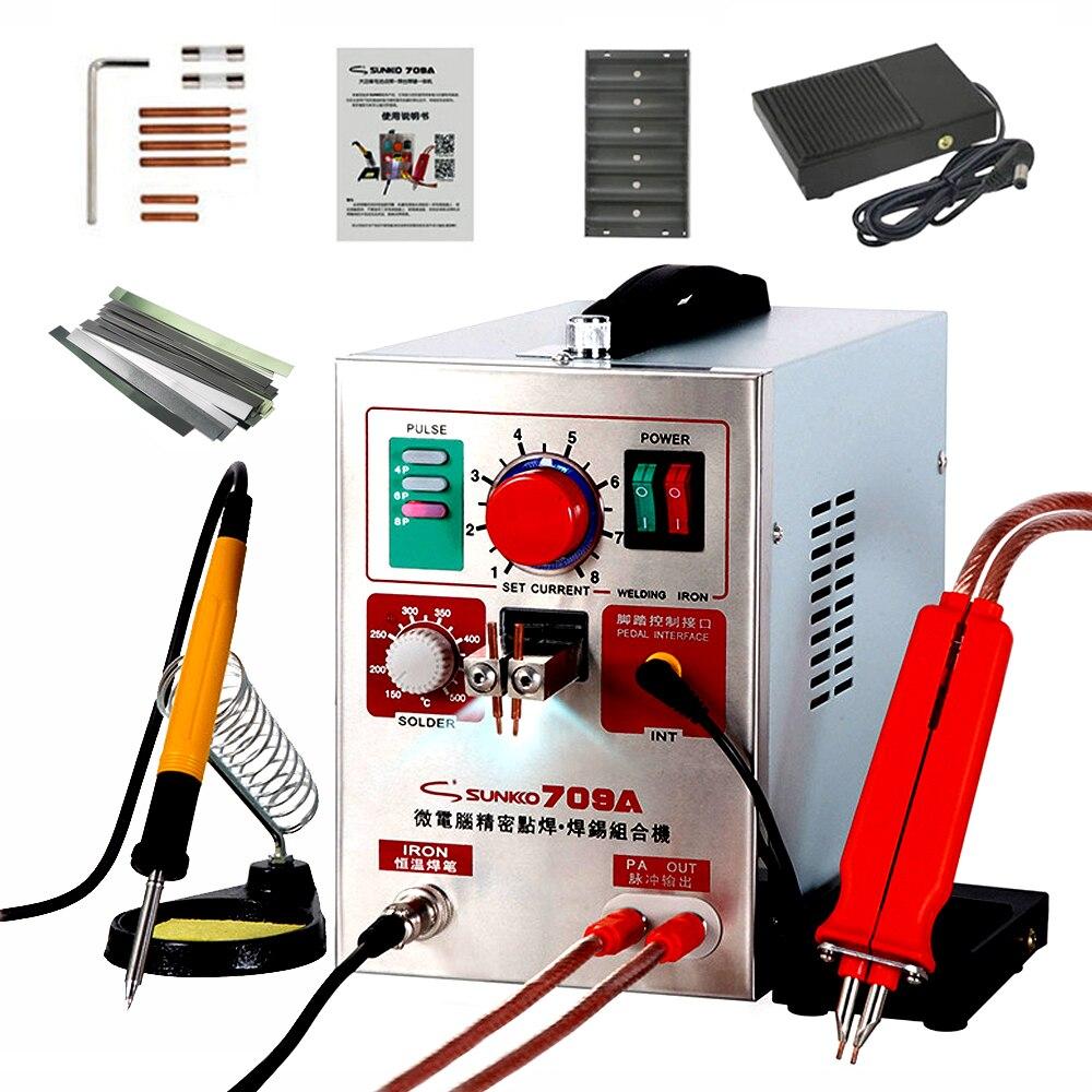 SUNKKO 709A soudeuse par points 1.9KW impulsion soudeuse par points pour batterie au Lithium Machine de soudage avec stylo à souder à distance