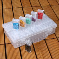 64 Grid Diamond Painting Accessories Storage Box Diamond Painting Cross Stitch Beads Box Plastic Box Transparent Jewelry Box