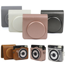 Funda Instax Camera Case for Fujifilm Square SQ6 Instant PU Leather Bags with Shoulder Strap For Cases