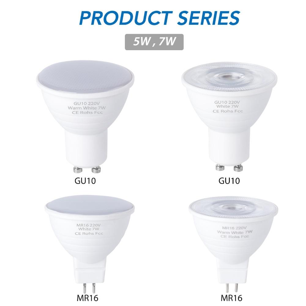 CanLing GU10 LED 220V Spotlight Bulb Corn Lamp MR16 Spot Light Bulb LED Gu5.3 SMD2835 Bombillas Led 240v Ampoule 5W 7W Lampada