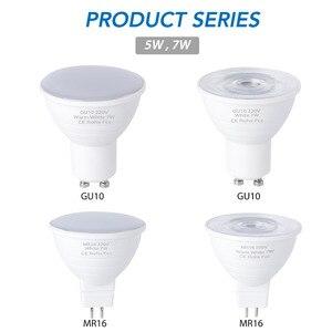 Image 1 - CanLing GU10 LED 220V Spotlight Bulb Corn Lamp MR16 Spot light Bulb LED gu5.3 SMD2835 Bombillas led 240v Ampoule 5W 7W Lampada