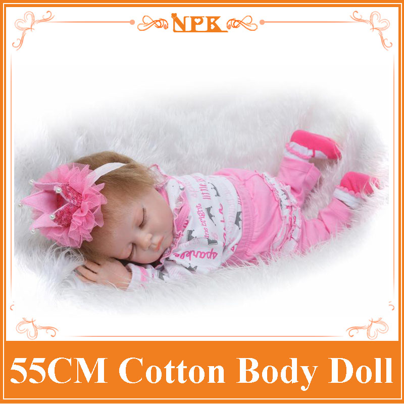 Lastest 55cm 22'' Reborn Dolls Made By Non-Toxic Silicone And Soft Cotton Lifelike Silicone Baby Dolls For Babies As Brinquedos