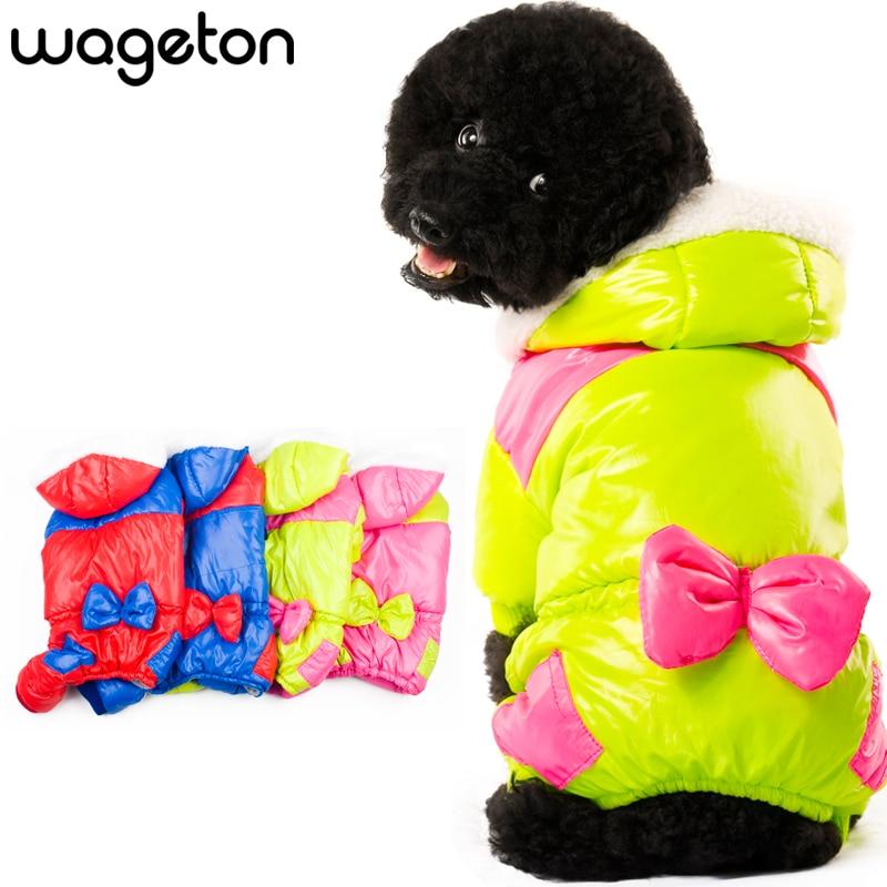 Horké oblečení WAGETON Módní oblečení pro psy BOWKNOT - Domácí zvířata