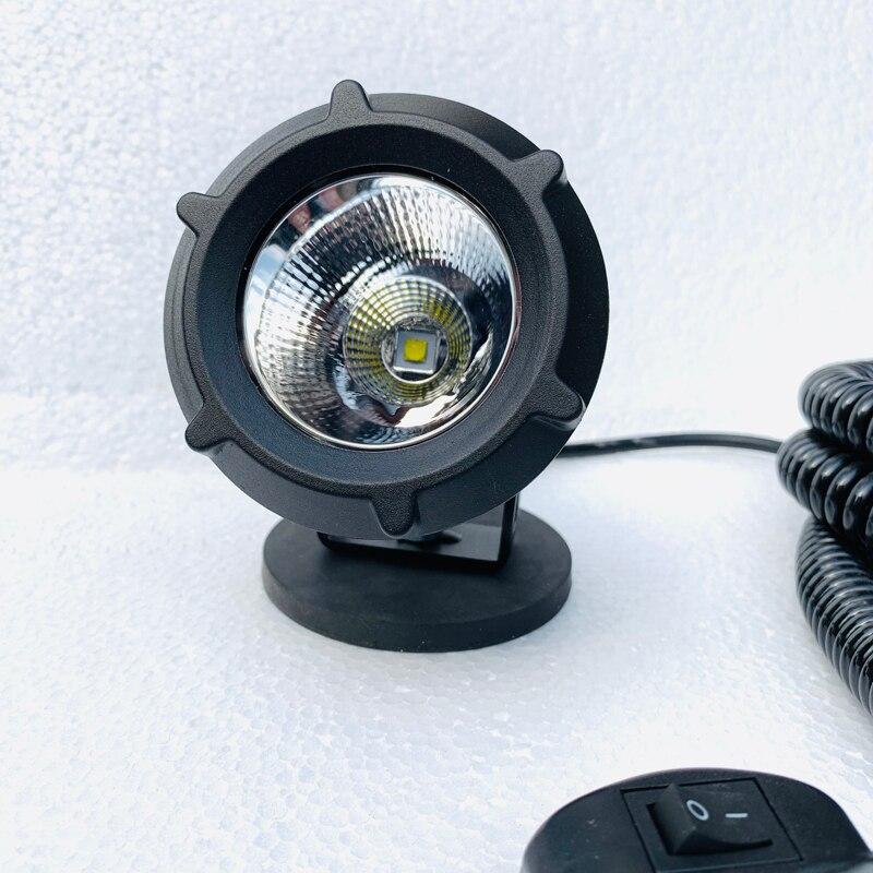 DIY Retractable wire Magnet Mount base portable Car lantern 12v24v Waterproof Offroad truck spotlight ATV Tractor