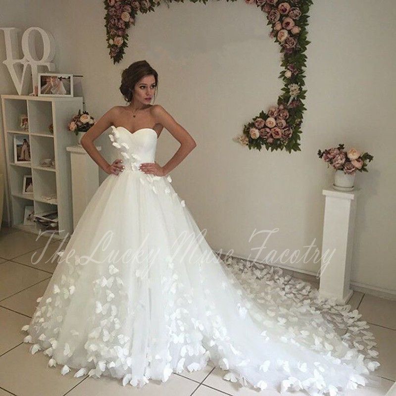 buy unique wedding dresses 2017 long