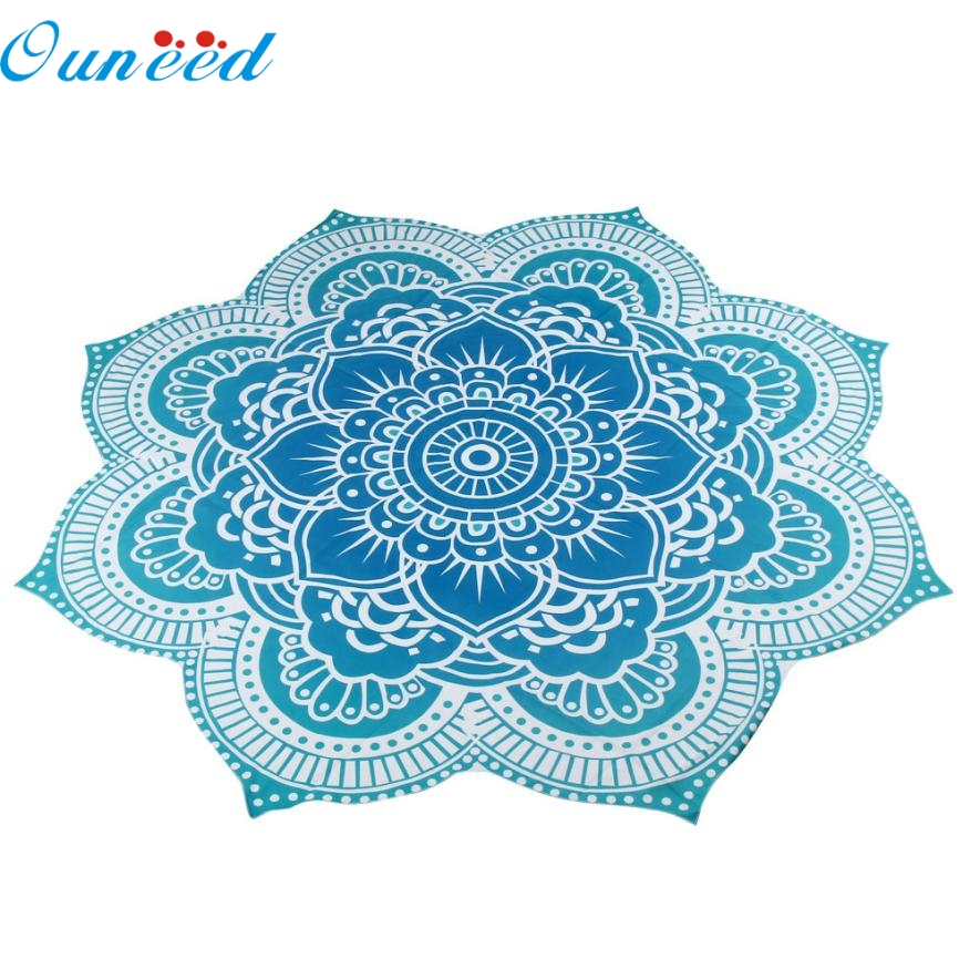 JY 8 Mosunx Business 2016 Hot Selling Round Beach Pool Home Shower Towel Blanket Table Cloth Yoga Mat