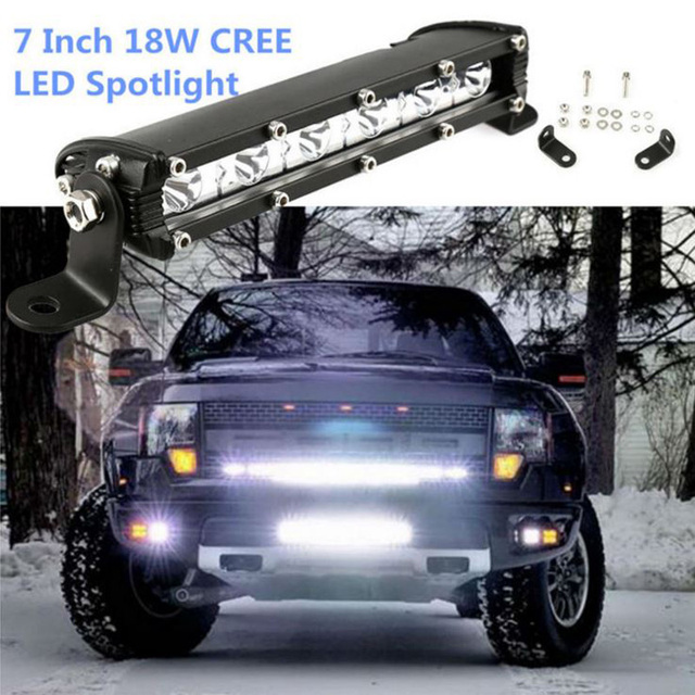 2x 18W Spot/Flood Led bar Car fog headlight Truck spotlights ...