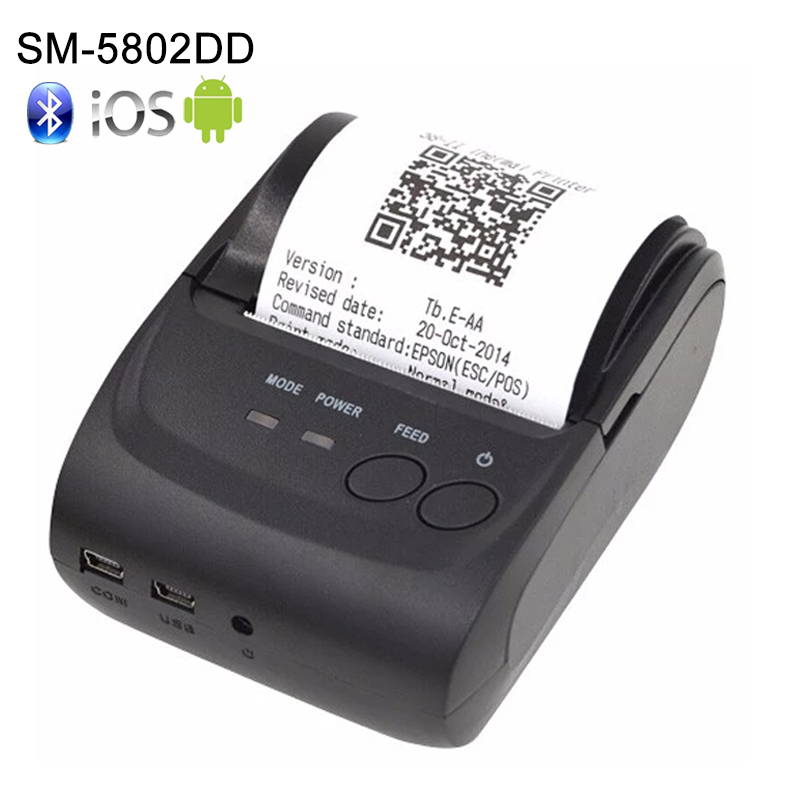 Free SDK Wireless Android Bluetooth Thermal Printer 58mm Mini Bluetooth Thermal Receipt Printer - Bluetooth Android 3 in 1 corner rounder