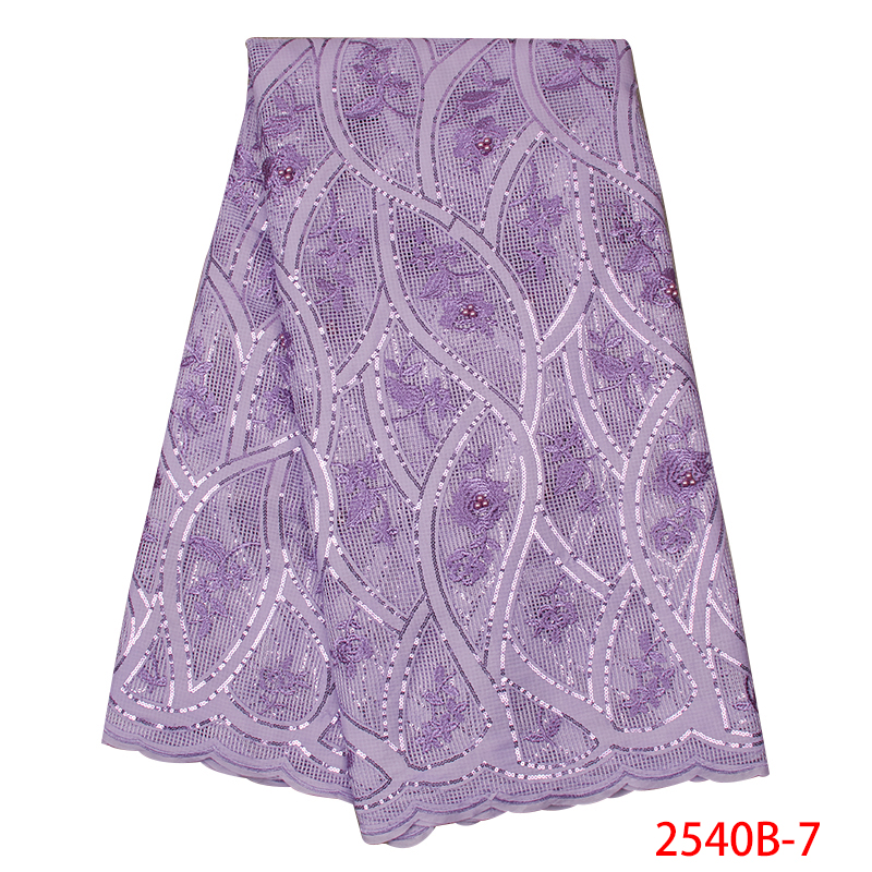 High Quality African Lace Fabric 2019 Wholesale Lace French Lace with Beads Sequin for Women Wedding