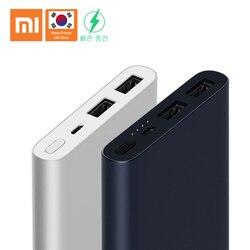 Banco Do Poder Xiaomi 10000mAh 2i Dual USB Bi-direcional de carga rápida Da Bateria Li Fino terno Portátil para Android /Telefone da apple