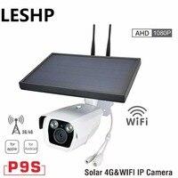 P9S 2 1080 P HD 4 г и Wi Fi IP Камера инфракрасный Ночное видение наблюдения веб Солнечный бытовой сигнализации Системы для apple для Android