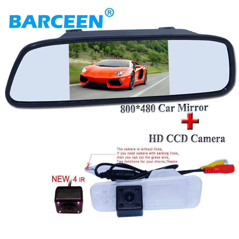 5 car rear view mirror monitor hd lcd display with original wire car reversing camera hd