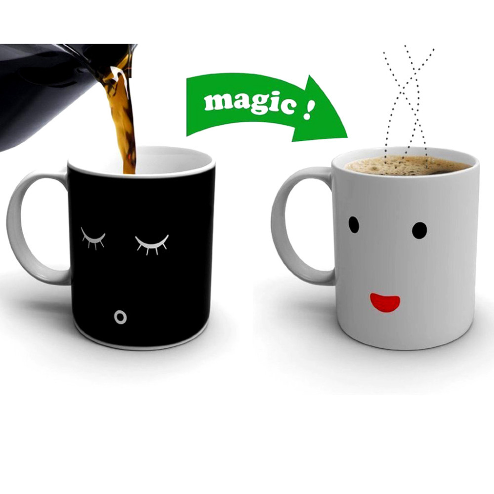 active magic mug cup morning tea milk mug smile face coffee sensitive color changing in mugs. Black Bedroom Furniture Sets. Home Design Ideas