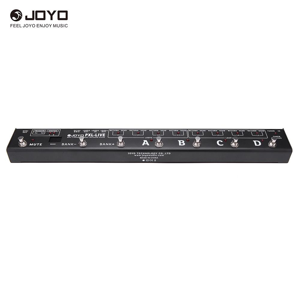 Joyo PXL LIVE Programable Pedal Controller Switching Grouping System FX 2 Programmable Triggers Buffered Bypass