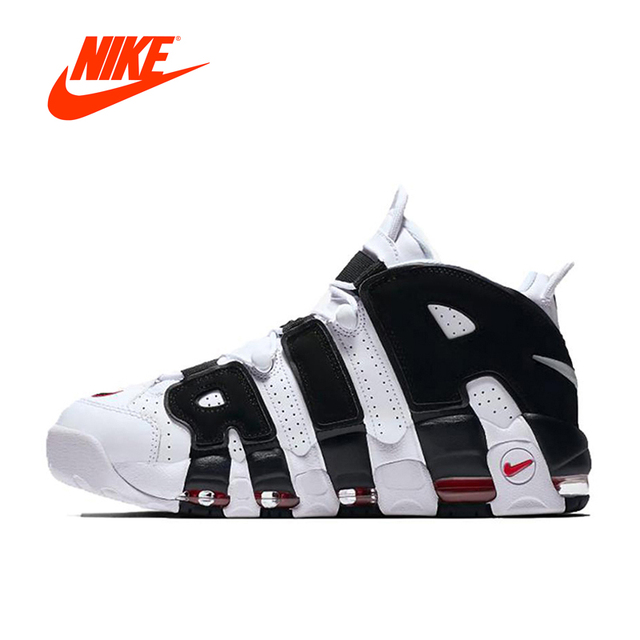 2018 Original New Authentic Nike Air More Uptempo Men s Basketball Shoes  Sneakers Breathable Sports Leisure Comfortable f871e3ea95b8
