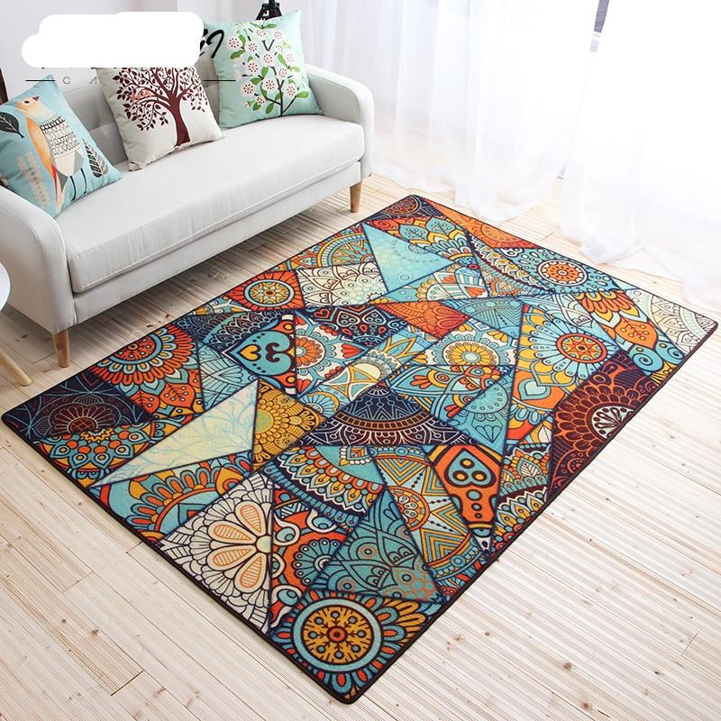 Пасторальный фланель ковры и ковры для дома Гостиная Роскошные Спальня коврик Кофе таблица коврик большой Размеры коврик