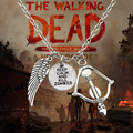 2016 Popular The Walking Dead Necklace Daryl Pendant Bow Arrow Crossbow Choker Necklace Angel Wing Necklaces & Pendant Colar