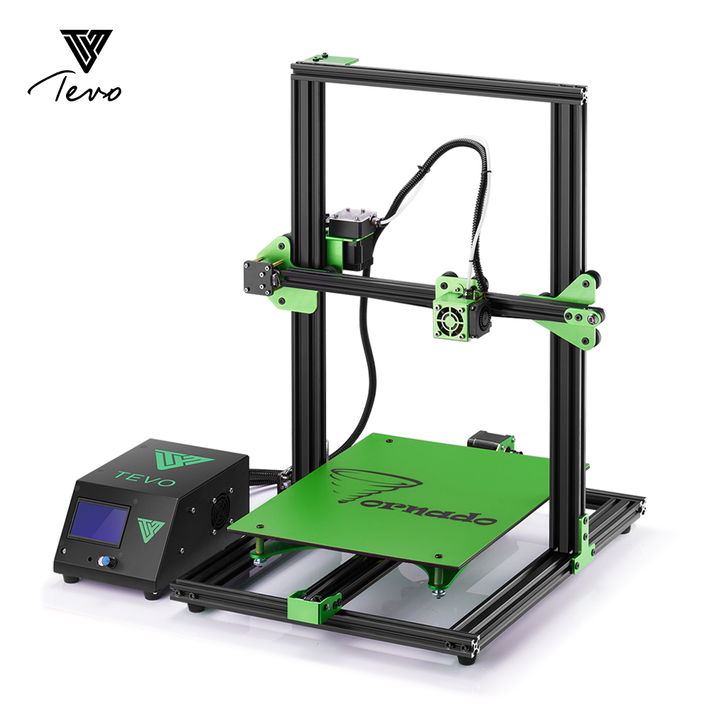 2018 TEVO Tornado 3D Printer Fully Assembled Impresora 3D Full Aluminium Frame with Titan Extruder Large Printing AC Heatbeat flsun 3d printer big pulley kossel 3d printer with one roll filament sd card fast shipping