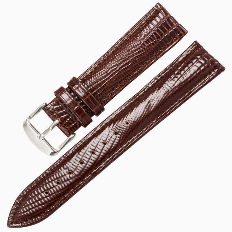 Высокое мм Качество 14 мм 16 мм 20 мм 22 мм ремешок для часов из натуральной кожи ремни часы аксессуары ящерица узор Ремешки для наручных часов