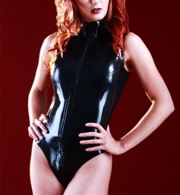 Здесь продается  Latex Sleeveless Body Latex Swimsuit Rubber Catsuit Front Zip  Одежда и аксессуары