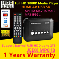 Full HD 1080P Media Player RM MKV H 264 AV Ypbpr Out HDMI Out Support SD