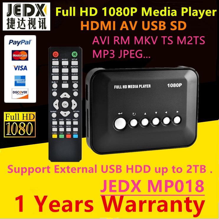 JEDX Mini Full Hd 1080 p USB Externe Hdd Player Avec SD MMC Lecteur de Carte Host Soutien Mkv Hdmi Hdd Media Player Cadeau freeShipping