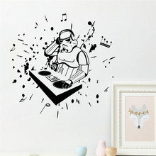 57*57cm boys love science fashion film star war character robot rock music DJ home decal wall stickers for kids room