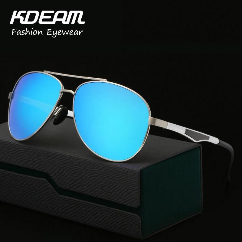 KDEAM Marca Cool Designer Óculos Polarizados Óculos de Sol de Alumínio E  Magnésio de Alta Qualidade Oculos de sol óculos de Condução Óculos de Sol  UV ... 050bcb3b57