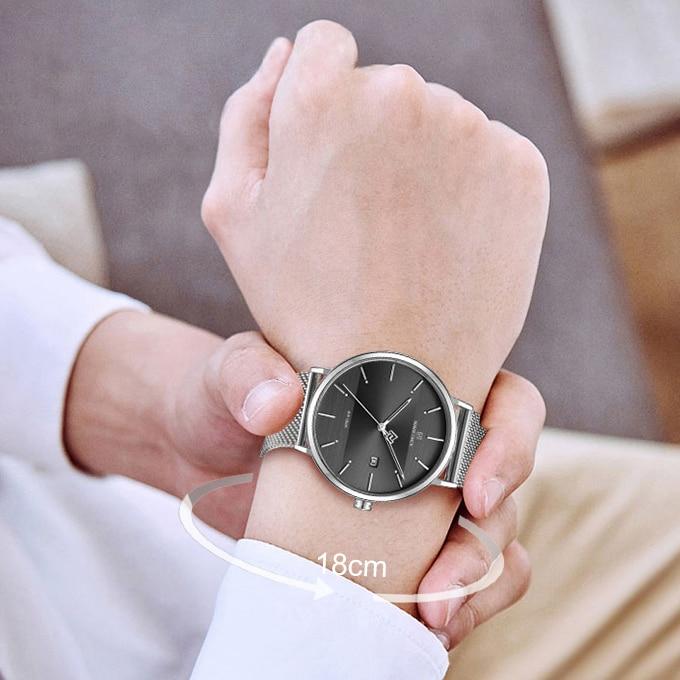 Image 5 - Men Watch Top Brand NAVIFORCE Stainless Steel Mesh Quartz Men's Watches Waterproof Date Business Wristwatch Relogio Masculino-in Quartz Watches from Watches