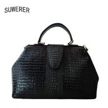 все цены на 2017 new fashion crocodile pattern handbag Women's handbags Personalized fashion shoulder Messenger bag онлайн