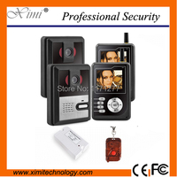 Two Doors Video Door Phone Access Control System 300m Wireless Villa Video Intercom With Night Version