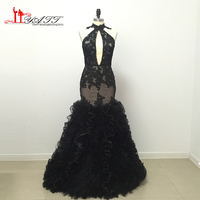 2017 Custom Made African Cheap Long Mermaid Real Photo Discount Appliques Prom Dresses Evening Gown LIYATT