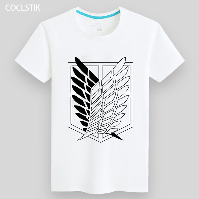 952642ce US $11.98 10% OFF 100% Cotton Kids/Mens Summer Anime White Attack on Titan  T Shirt Streetwear Male Tshirts No Kyojin Short Fitness T shirts S 5XL-in  ...