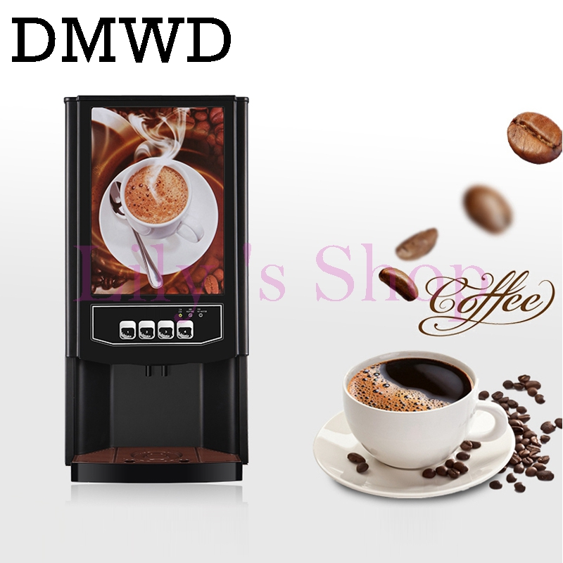 DMWD 3 different drinks mini instant automatic coffee maker Commercial 2 beverage vending machine fruit juice