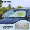 BROSHOO Car Windscreen Sunshade Front Window Sun Shade Windshield Visor Cover For Infiniti Q50 JX35 G35 G37 M25 M35 FX50 EX35