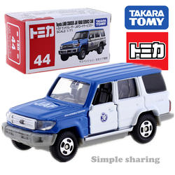 Takara tomy tomica no.44 toyota land cruiser jaf serviço fora da estrada carro diecast brinquedos do bebê collectibles engraçado crianças bonecas