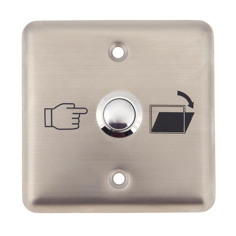 Door Release Exit Electromagnetic Lock Touch Exit Button for Access Control System for NO NC electric/magnetic lock Household alloy cover touch door exit for door access control system