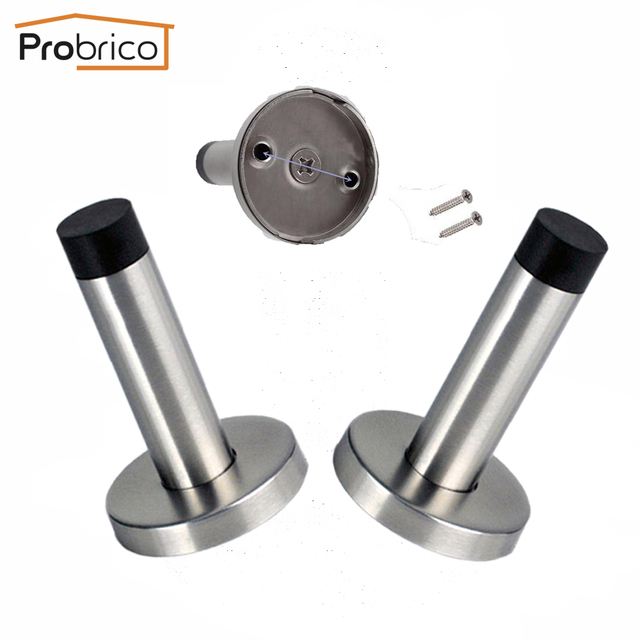 Probrico Door Stopper Stainless Steel Black DS134SS85 Height 85mm 3 ...
