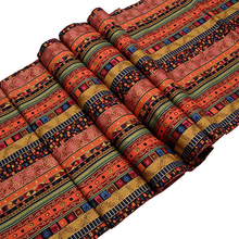 Vintage Folk Table Runner Mexico Style Cotton with Tassel Cloth for Home Decoration Restaurant Decor