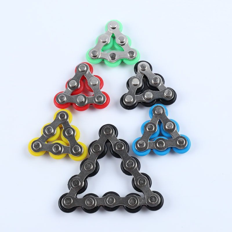 1pcs Bike Chain Fidget Spinner Bracelet For Autism And ADHD Chaney Fidget Toy Anti Stress Toy Stress Reliever Desk Toys