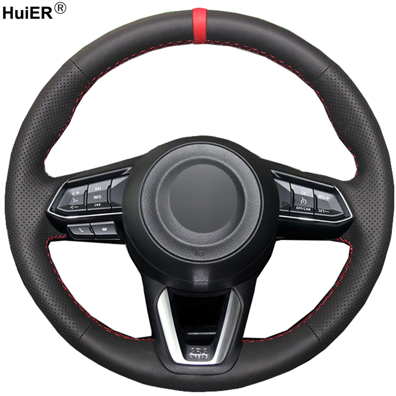 Hand Sewing Car Steering Wheel Cover For Mazda 3 Axela
