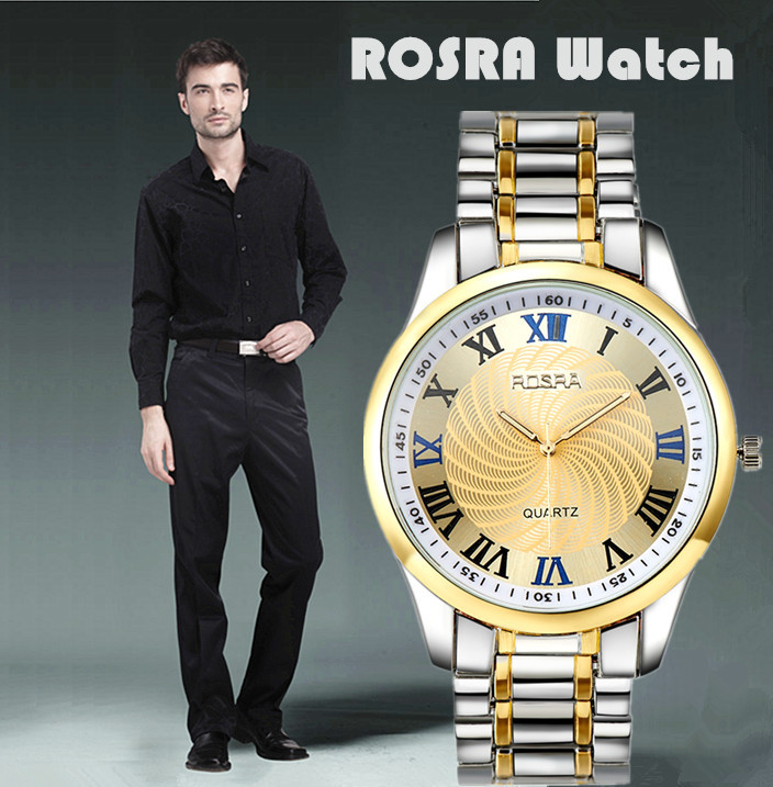 Man Watch 2019 Rosra Men Watches Stainless Steel Watch Men Business Wristwatches relogio masculino horloge mannen montres homme