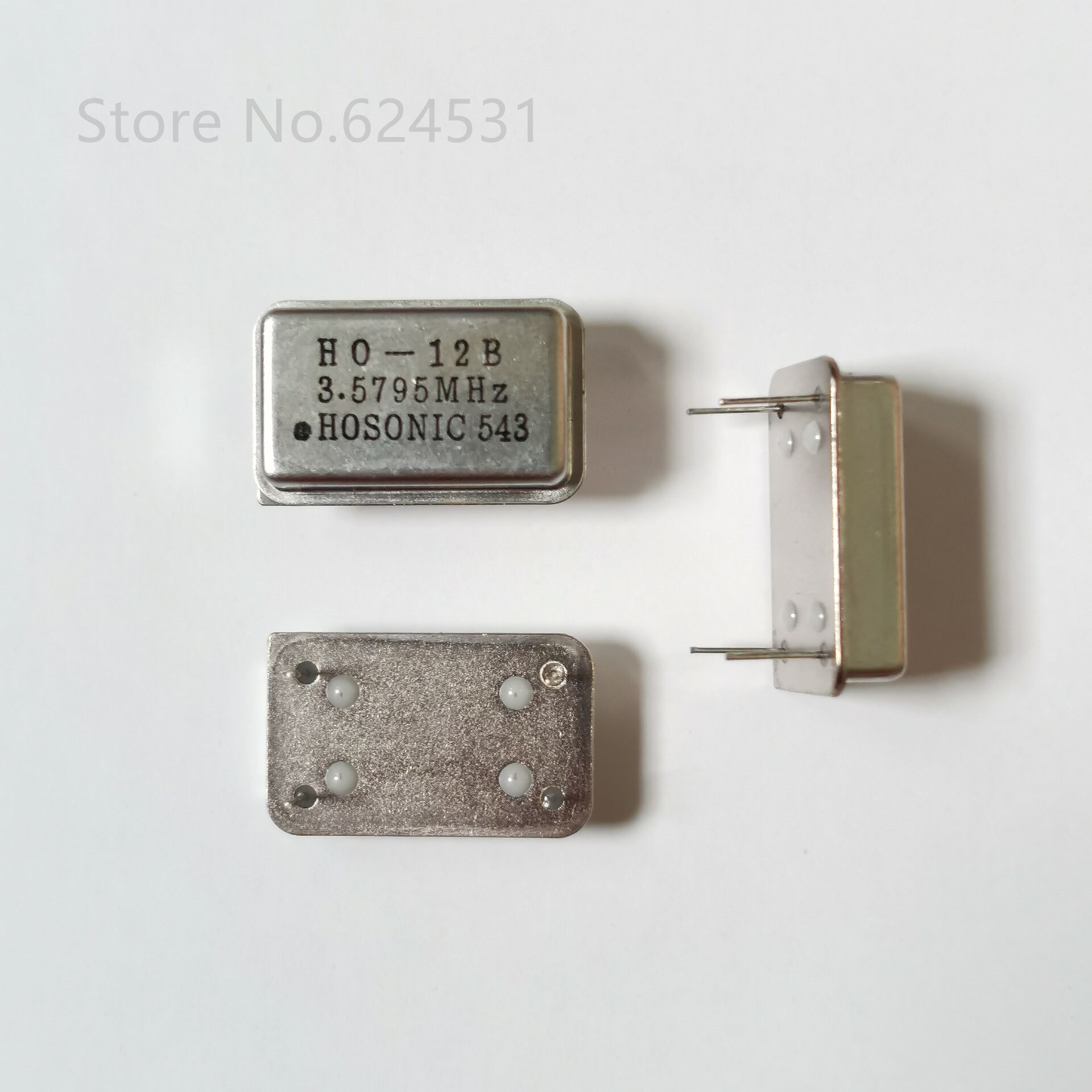 5pcs In-line Active Crystal OSC DIP-4 Rectangular Clock Vibration Full Size 3.579545MHZ 3.579MHZ