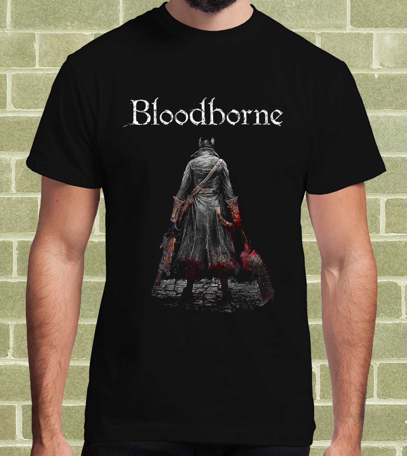BLOODBORNE VIDEOGAME T-SHIRT per Uomo e Bambino Round Neck Teenage Pop Top Tee Printed T Shirt Men Cotton T-Shirt New Style